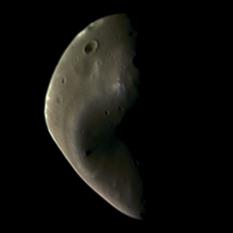 Deimos in color from Viking Orbiter 2