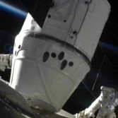 Dragon berthed to ISS