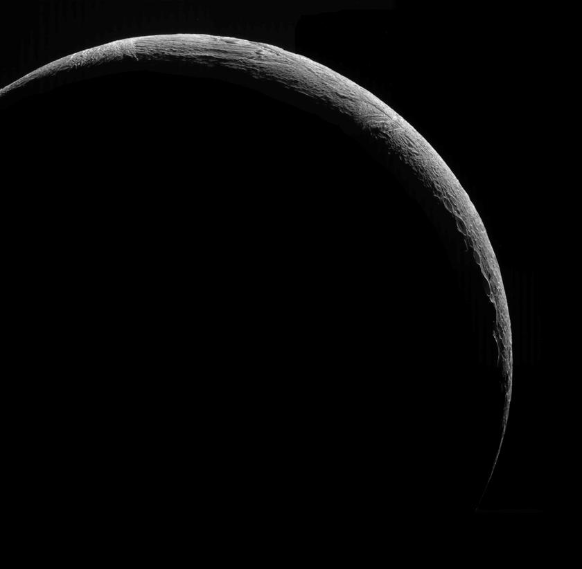 Crescent Enceladus