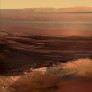 A sunset postcard and a special shadow from Opportunity