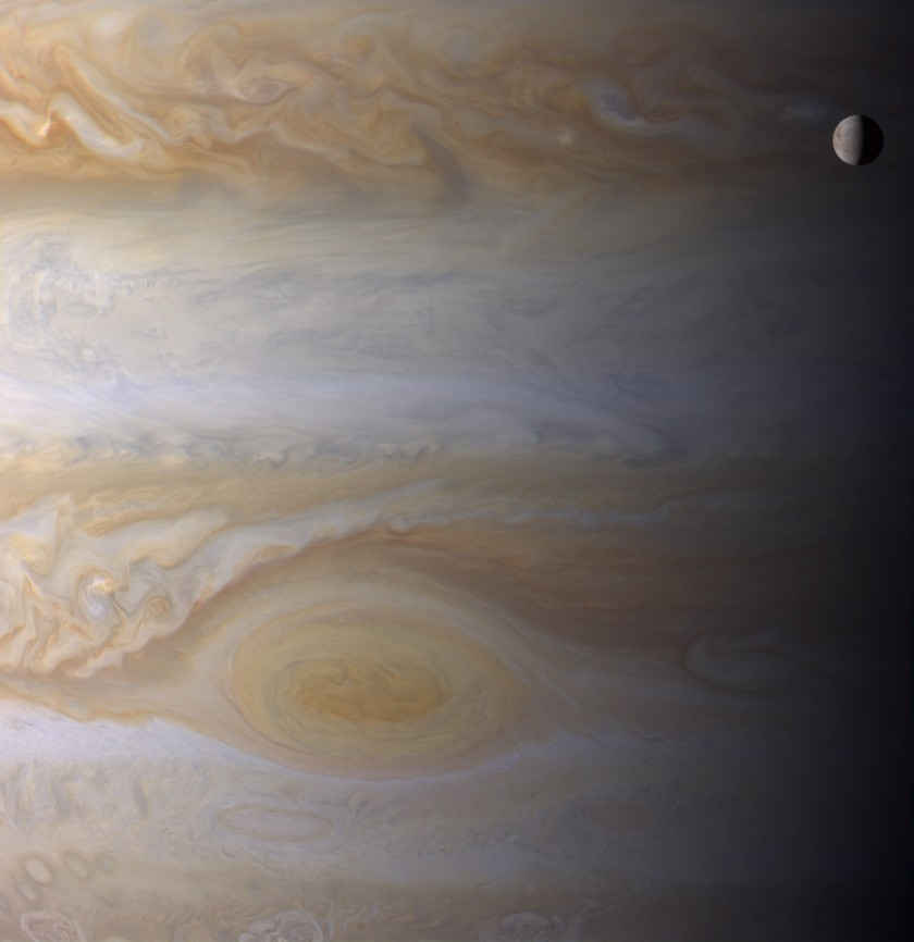 Jupiter and Europa from Cassini