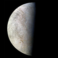 Voyager 2 view of Europa