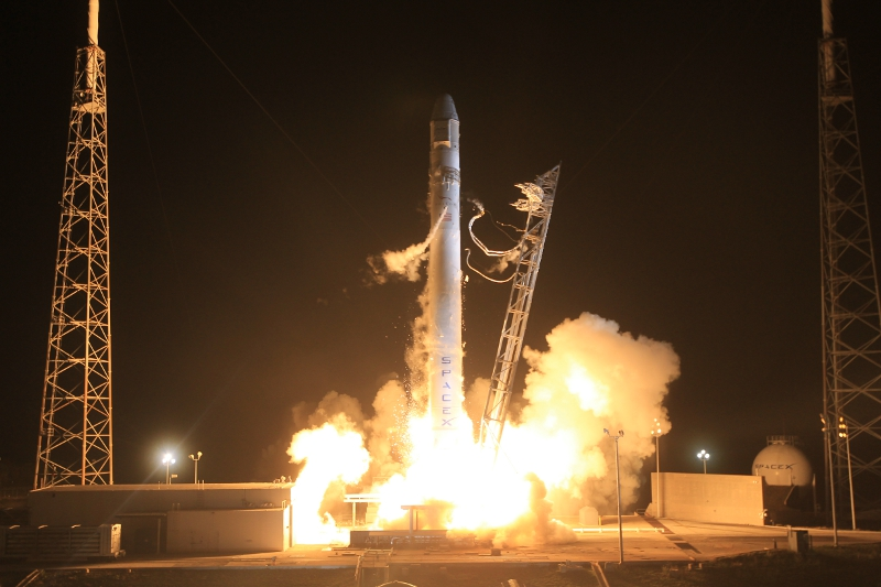 SpaceX's Falcon 9 lifts off