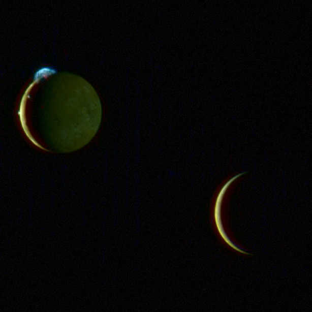 Io and Europa from New Horizons (Emily Lakdawalla's version)