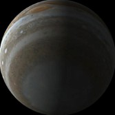 Junocam's polar view on Jupiter
