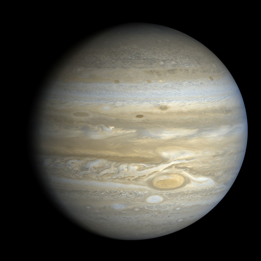 Voyager 2 view of Jupiter