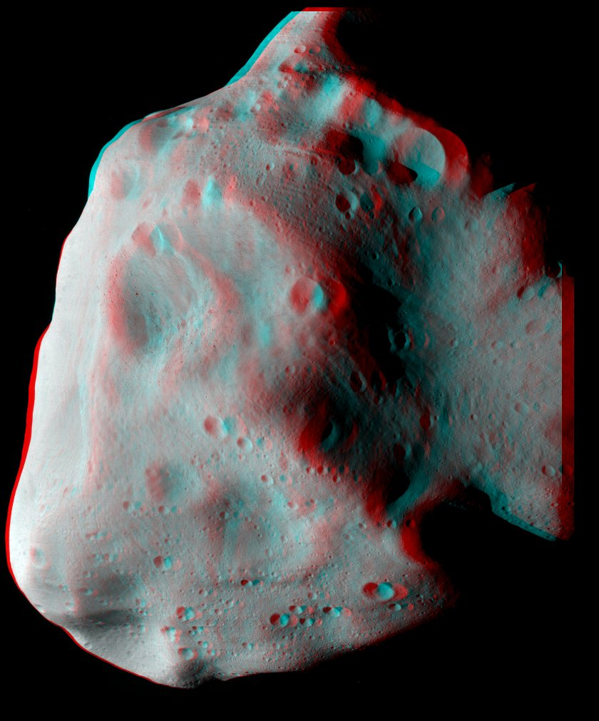 Lutetia in stereo (3D anaglyph)