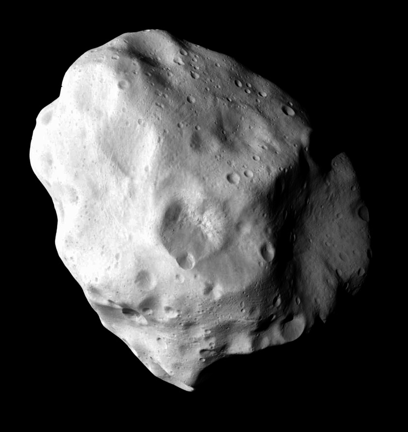 A full view of Lutetia from Rosetta