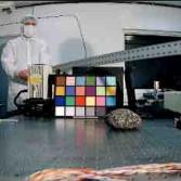Test image from Curiosity MARDI containing Ken Edgett