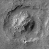 Crater with central mound