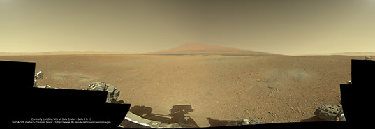 Curiosity's first complete color panorama
