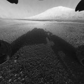Full-resolution front hazcam view of Curiosity's landing site, sol 0