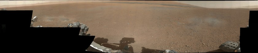 Thumbnail version of Curiosity's first Mastcam color panorama