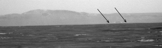 Opportunity's forward view, sol 2662: first sight of Cape York?