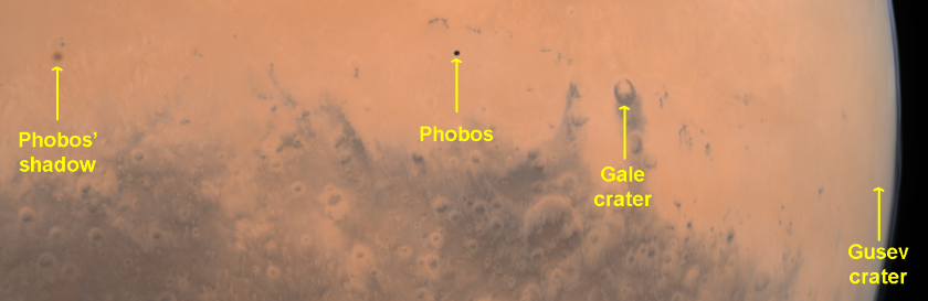 Phobos over Mars (labeled)