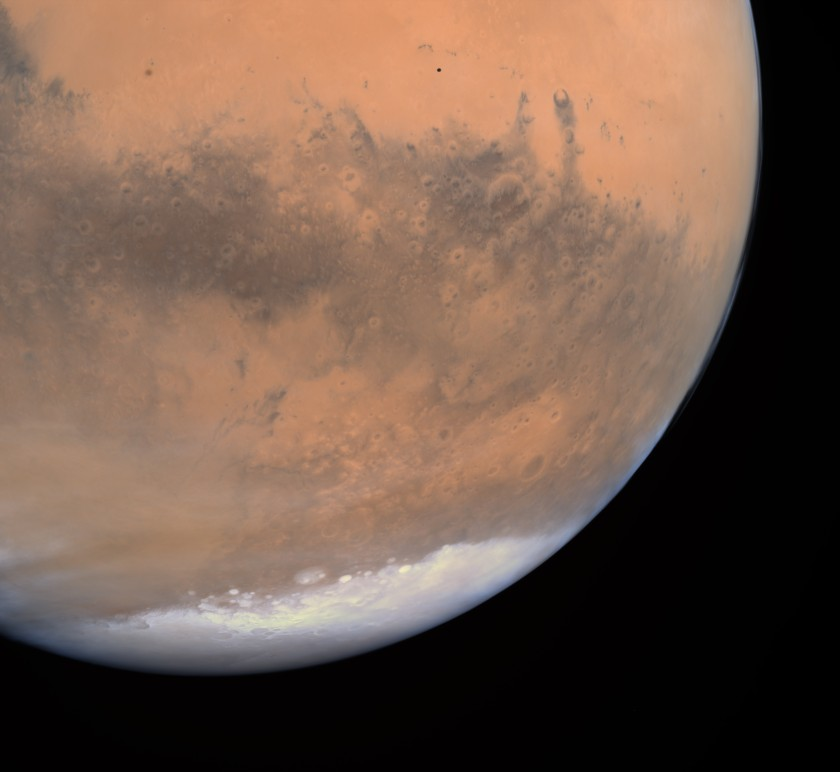 Phobos over Mars