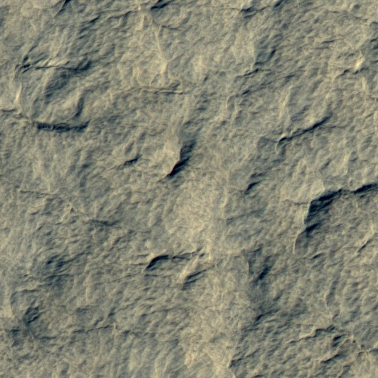 Terrain within the Mars Polar Lander landing ellipse (detail view)