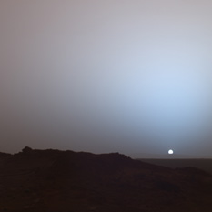 Spirit's sunset on Mars