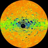 Temperatures at Mercury's south pole