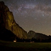 The Milky Way over Yosemite Valley