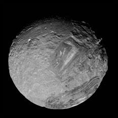 Voyager 2's best image of Miranda