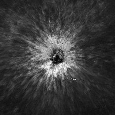 Fresh crater on the lunar farside