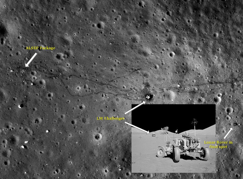 Apollo 17 landing site
