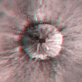 3D view of an unnamed lunar crater