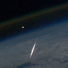 Perseid from space