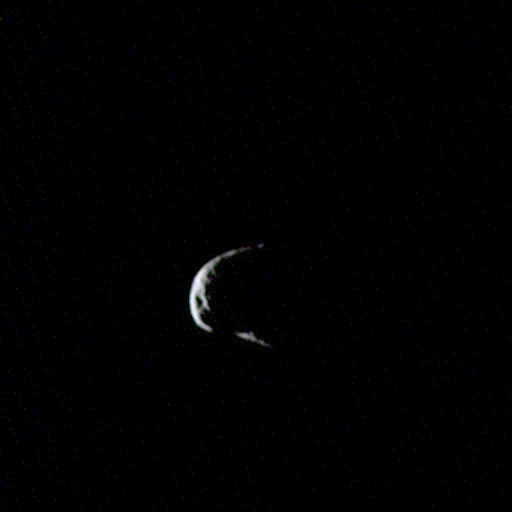 Crescent Phobos from Rosetta