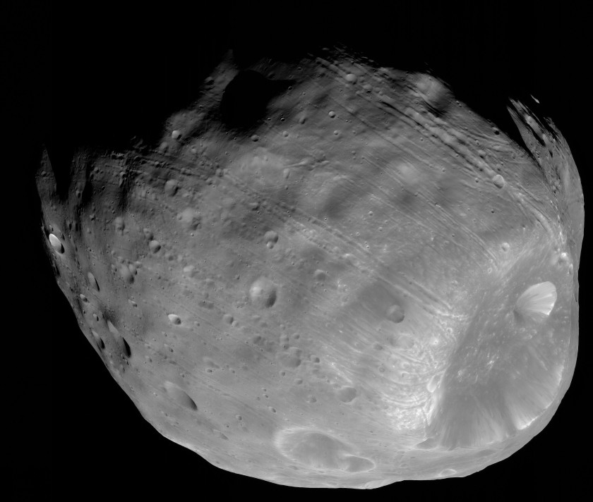 HiRISE view of Phobos, March 23, 2008