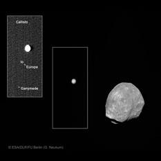 Phobos and Jupiter and Jupiter's moons