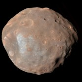 Color view of Phobos from Mars Reconnaissance Orbiter