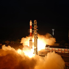 RISAT 1 lifts off