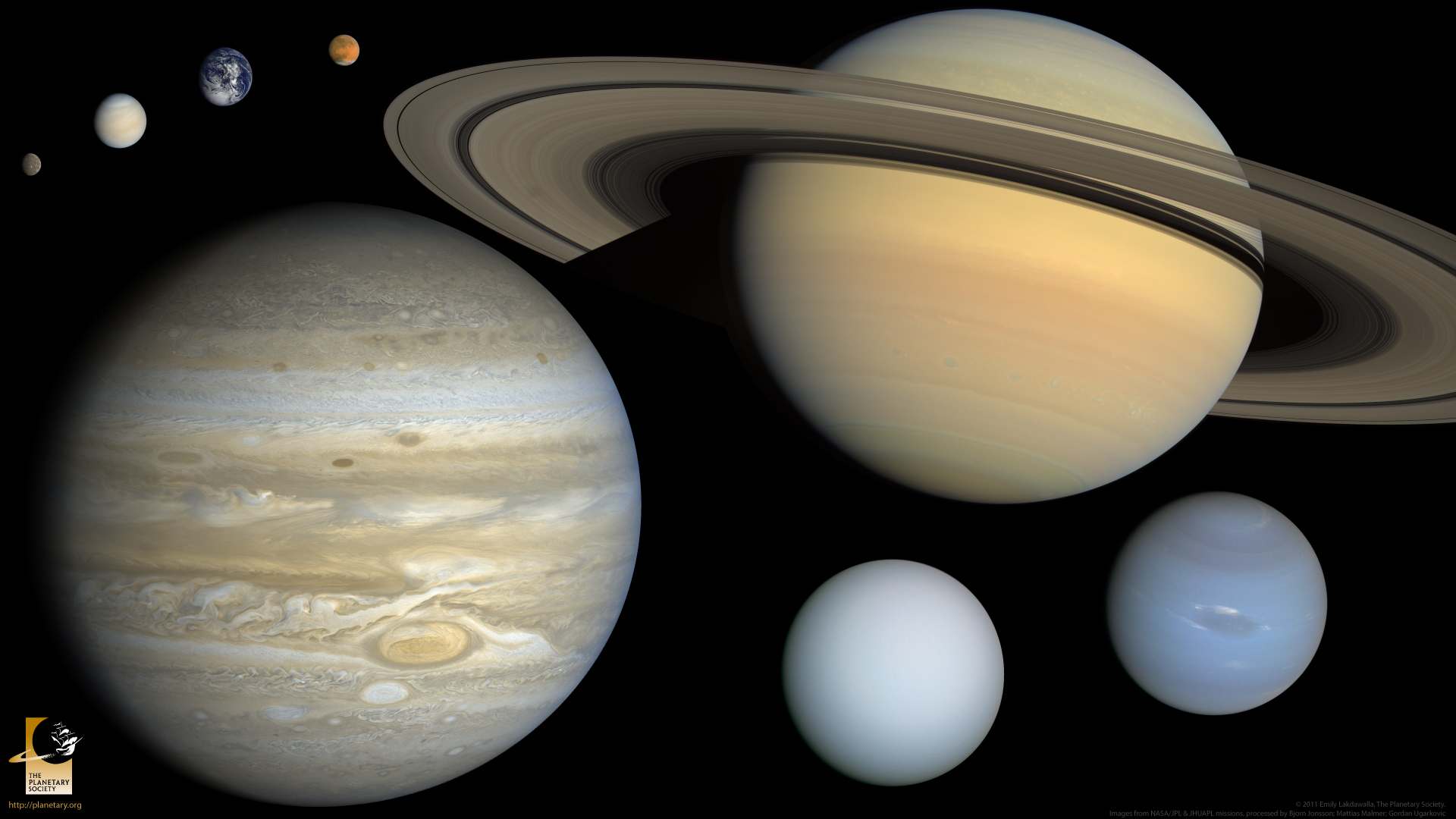 graphic relating to Printable Planets to Scale identify The 8 planets, towards scale (widescreen) The Planetary Lifestyle