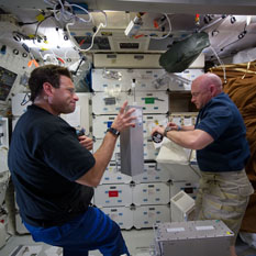 Shuttle LIFE Experiment with Astronauts