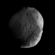 Stardust view of Tempel 1, just before closest approach