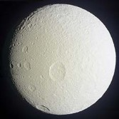 Global view of Tethys from Cassini