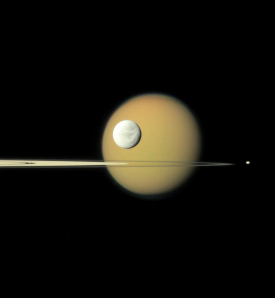 Titan, Dione, Pan, and Pandora