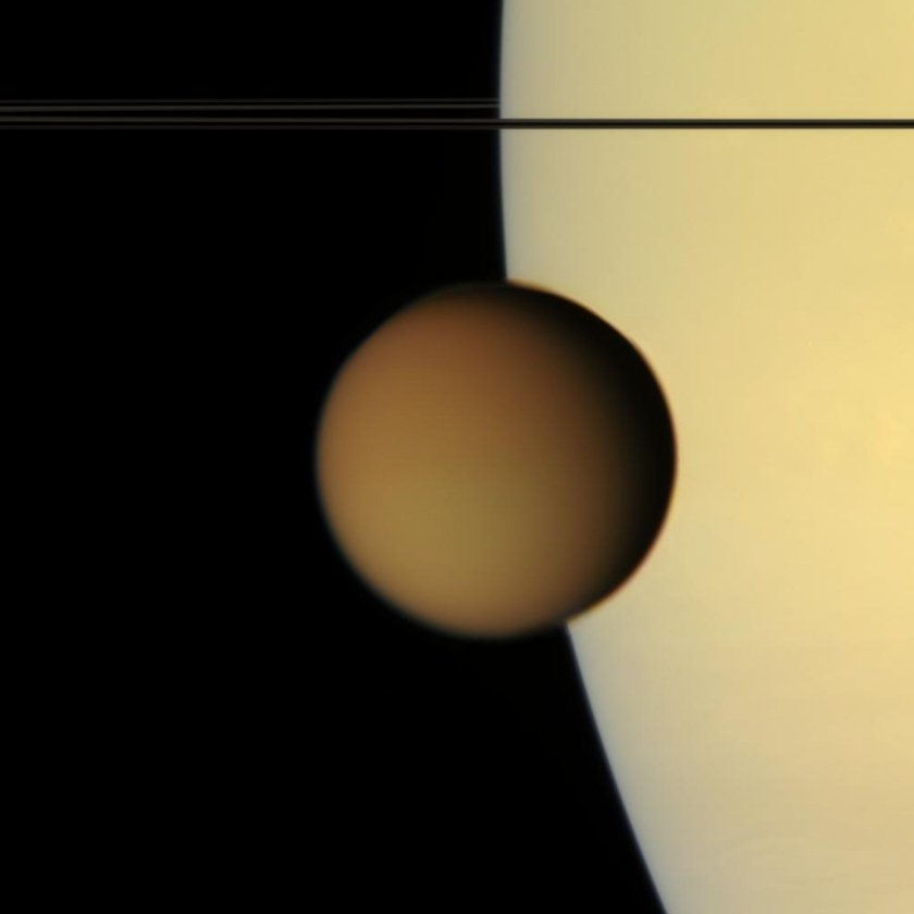 Titan and Saturn
