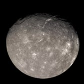 Voyager 2's best color view of Titania (super-res)