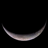Triton's crescent in color