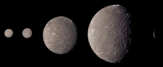 Voyager 2 Umbriel imaging sequence, in color
