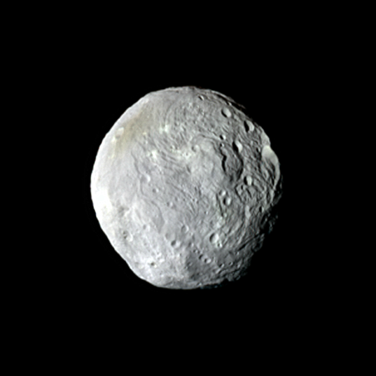 Distant global view of Vesta in natural color (9 July 2011)