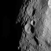 Cratered terrain on Vesta