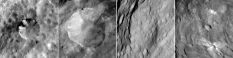 Craters on Vesta