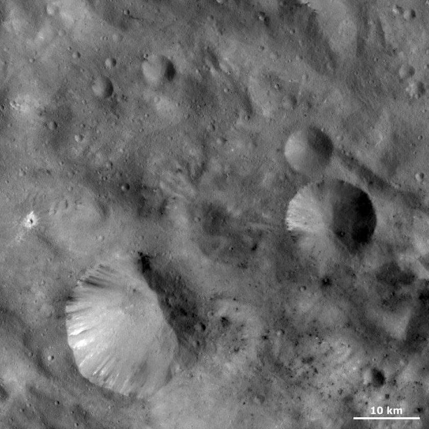 Vesta's strangely shaped craters