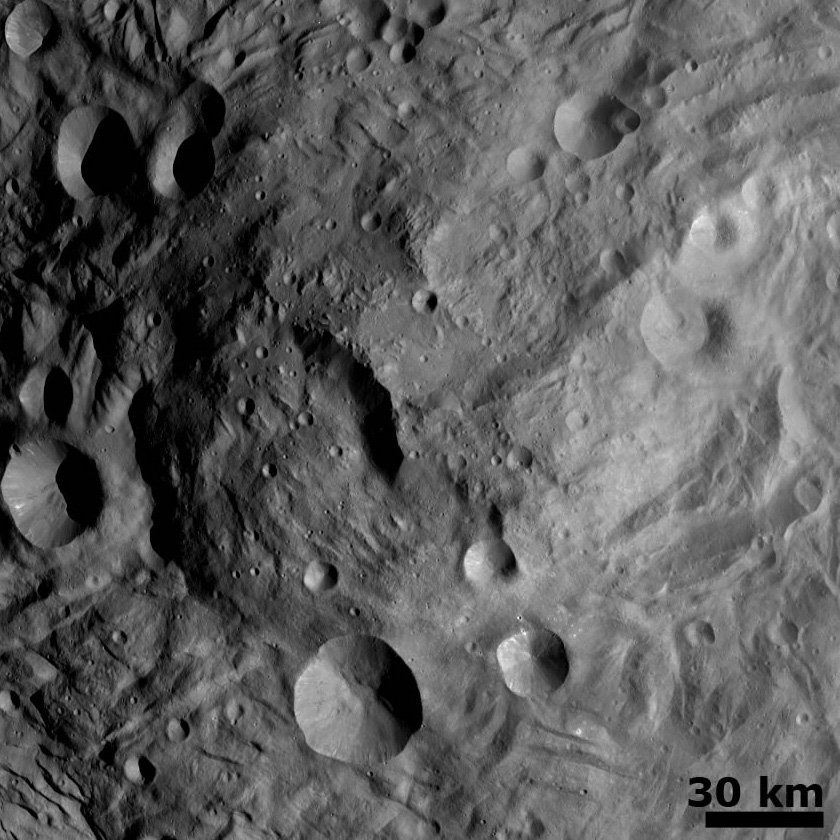 Vesta's south polar mound