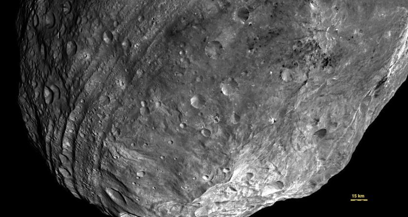 Vesta's southern hemisphere