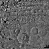 Worm-like markings on Vesta's surface